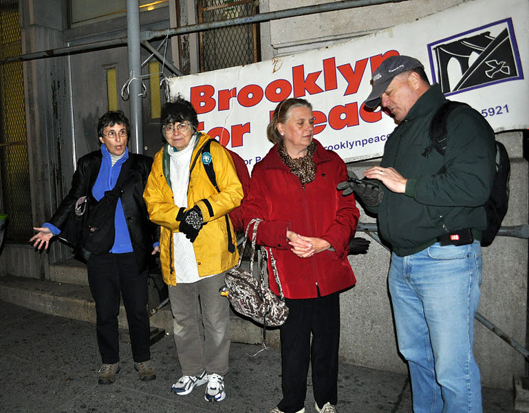 Waiting for the BFP contingent to gather -- at Leonard and Lafayette Streets.<br /> <br /> - Photo by Sam K