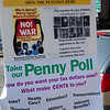 Our September 3, 2011 Penny Poll table at the Fort Greene Farmers Market. Here are the signs we posted to alert residents.