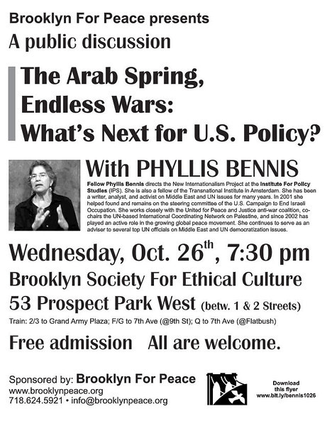 The flyer used to promote tonight's forum.