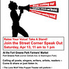 The flyer we used to promote the Speak Out.
