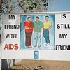 AIDS-positive billboard in Banjul