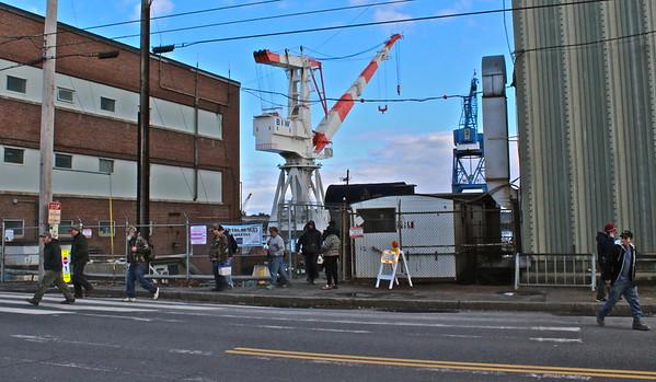 Peace Vigils at General Dynamics/Bath Iron Works in Bath, Maine