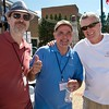Dirk Dzimirsky, Jerry Leggett with local builder,  Charlie Simms