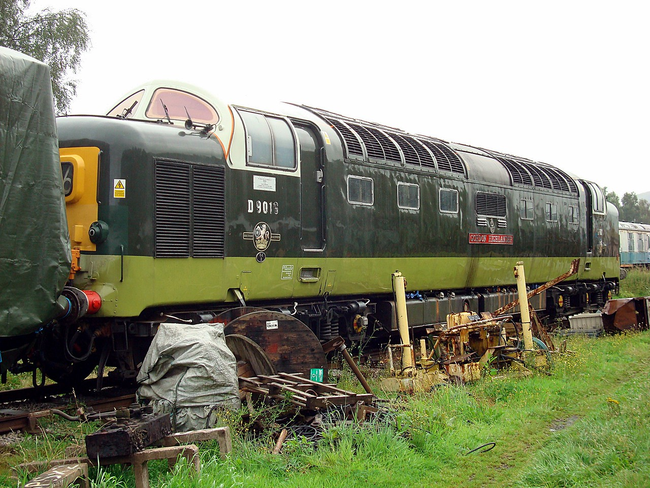 BR D9016 'Gordon Highlander' EE Co-CoDE 09,08,2008 (Now At Boden Rail)