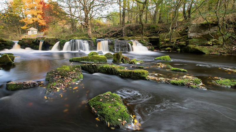 Yorkshire Bridge Waterfall - Peak District National Park