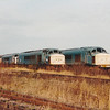 A view up the stored sidings at March with 45s and 03 shunters to be seen on 1st January 1991