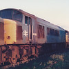 45005 is seen in the scrapline at Toton on a sunny evening of the 29th August 1986