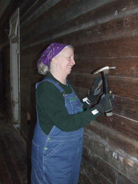 Lynn preparing walls for sheetrock