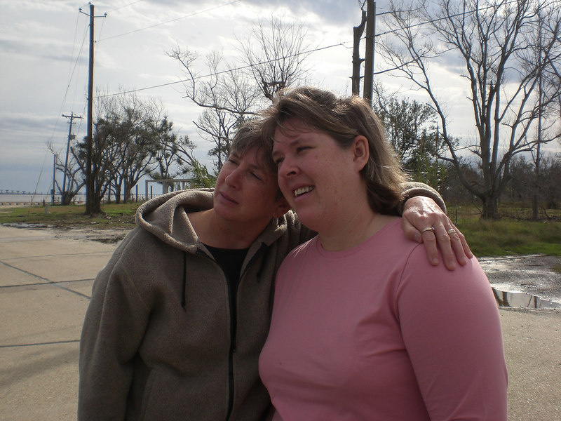 Mom and daughter--Gail and Brittany (youth group leader)