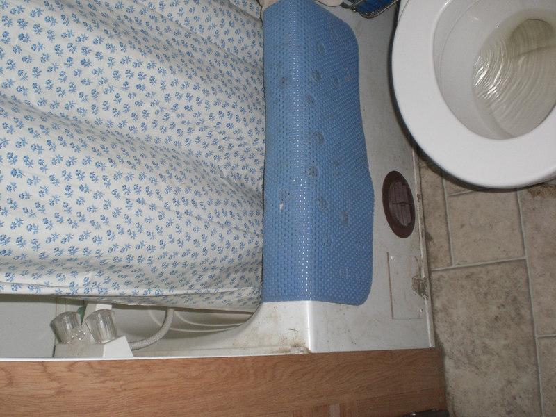 Bathroom in the FEMA trailer