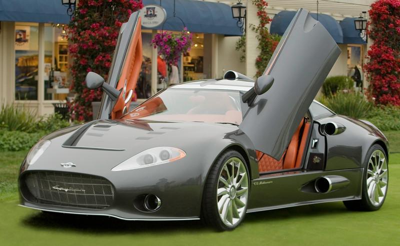 Spyker concept car.  Great headlights.