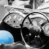 Helmet inside 1938 Jaguar SS100.