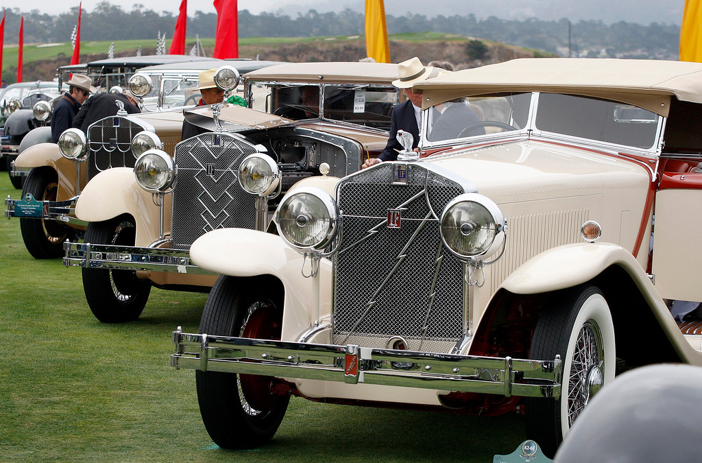 . Several Isotta Fraschini\'s on display on the Pebble Beach Golf Links during the Pebble Beach Concours d\'Elegance on Sunday, Aug. 20, 2017.  (Vern Fisher - Monterey Herald)