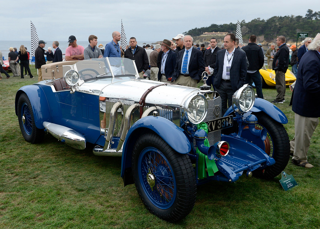 . This 1929 Mercedes-Benz S Barker Tourer owned by Bruce McCaw has been judged Best In Show at the Pebble Beach Concours d\'Elegance on Sunday, Aug. 20, 2017.  (Vern Fisher - Monterey Herald)