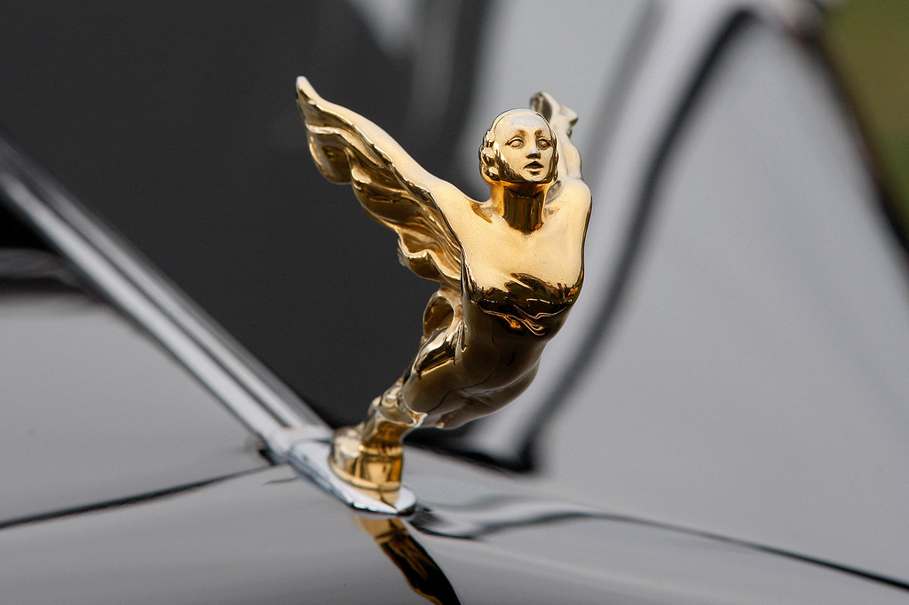 . The hood ornament on the 1933 Cadillac 452C Fleetwood All Weather Phaeton at the Pebble Beach Concours d\'Elegance on Sunday, August 26, 2018.  (Vern Fisher - Monterey Herald)