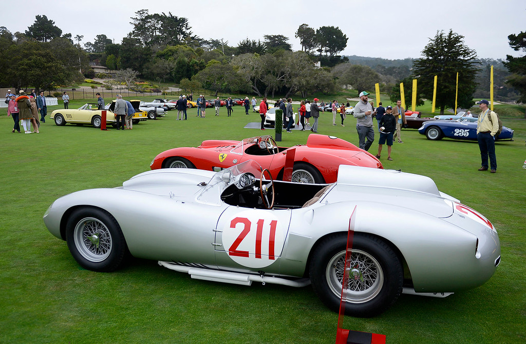 . A variety of Porsche\'s were on display on the first-hole fairway at the Pebble Beach Golf Links during the Pebble Beach Concours d\'Elegance on Sunday, August 26, 2018.  (Vern Fisher - Monterey Herald)