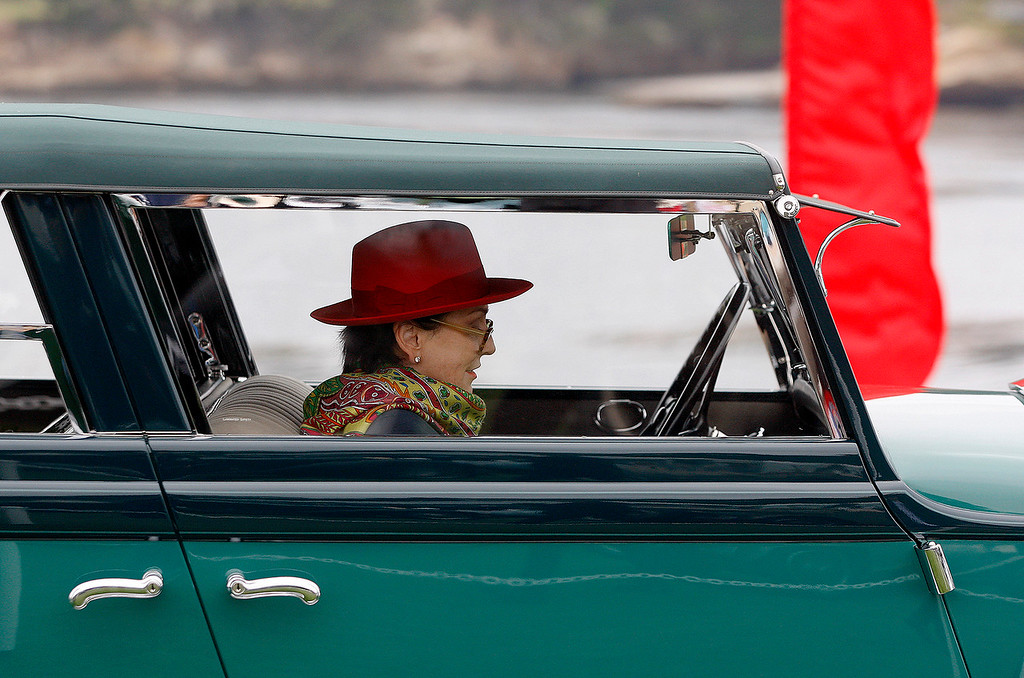 . A quiet moment at the Pebble Beach Concours d\'Elegance on Sunday, August 26, 2018.  (Vern Fisher - Monterey Herald)
