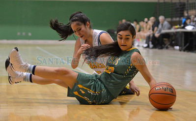 Pecos – Penasco girl's semifinals of the Northern Rio Grande Tournament played Friday, January 6, 2017 at Ben Lujan Gymnasium, Pojoaque Valley High. Clyde Mueller/The New Mexican