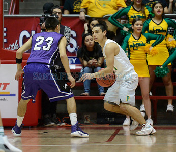 Class 3A boys New Mexico State High School Championship basketball game between Pecos and Santa Rosa played Saturday, March 11, 2017 at The Pit,  Albuquerque. Clyde Mueller/The New Mexican