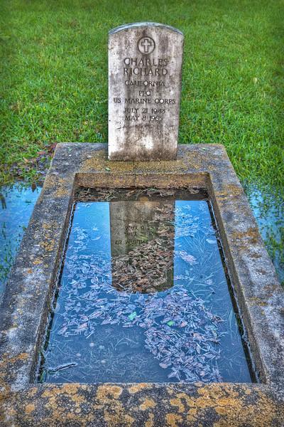 """Grave Reflection"" - Glenwood Cemetery, Houston, TX"