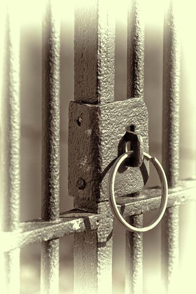 """""""Gate Ring""""  - Glenwood Cemetery, Houston, TX"""