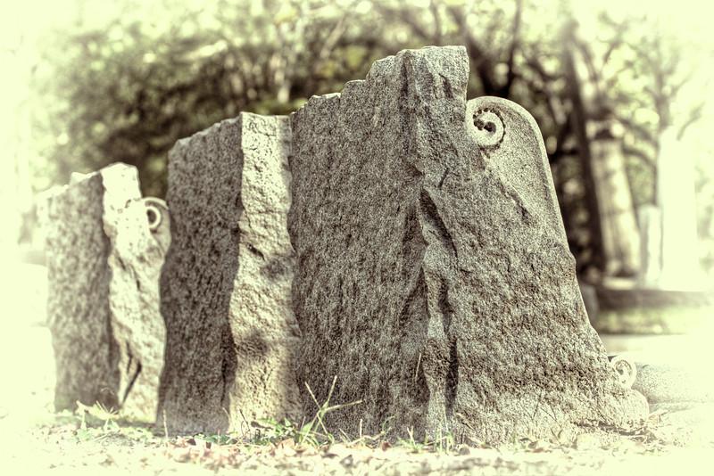"""Ruin of Amon Sûl"" - HDR - Glenwood Cemetery, Houston, TX"