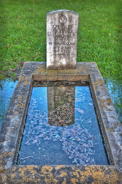 """Grave Reflection"" - Glenwood Cemetery, Houston, TX"