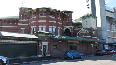 Just about to depart from the Sydney Cricket Ground.