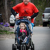 Martin Gray and his daughter Shelby, 2, from Lowell cross the finish line together at the Pediatric Care 5k. SUN/Caley McGuane