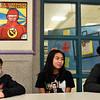 "Sullivan Middle School students in the Peer Program L-R, John ""Jack"" Gallagher (7th grade), Katalina Iem (8th Grade) and Jayden Hines (8th grade). SUN/ David H. Brow"