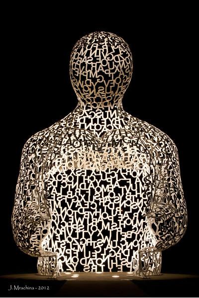 Alphabet Man - 20x x 30h - Color No Border