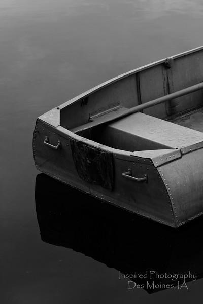 Row, Row, Row Your Boat - 24w x 36h - B+W No Border