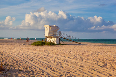 South Beach Evening Stock Life Guard Shack-33