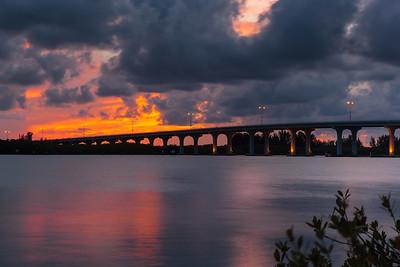 Barber Bridge Sunset from Riverside Park-59