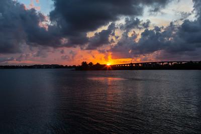 Barber Bridge Sunset from Riverside Park-12