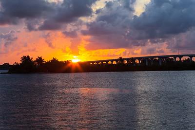 Barber Bridge Sunset from Riverside Park-8
