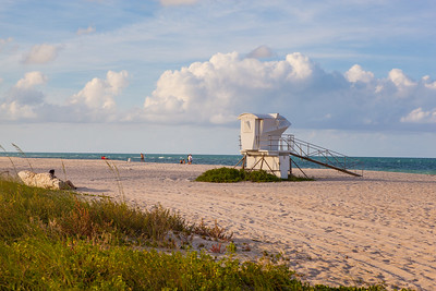 South Beach Evening Stock Life Guard Shack-23