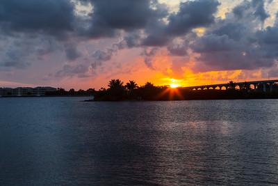 Barber Bridge Sunset from Riverside Park-5