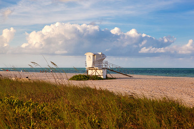 South Beach Evening Stock Life Guard Shack-11
