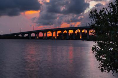 Barber Bridge Sunset from Riverside Park-54