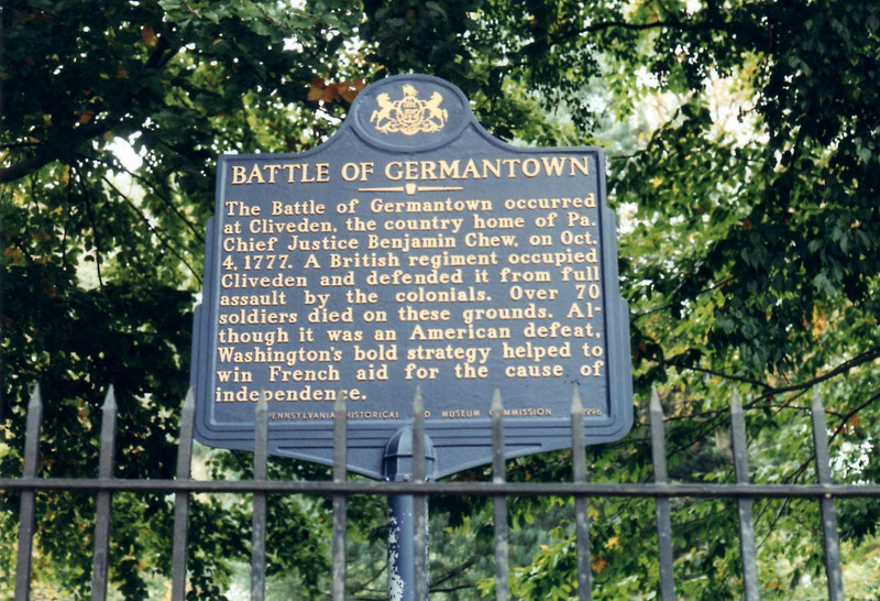 Historical marker in front