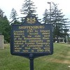 The western marker, located on West King St (US 11) at Park Heights Av, as seen on hmdb.org