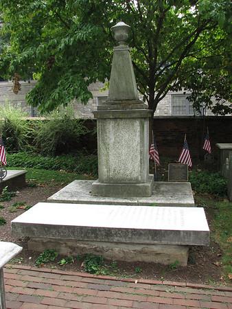 Grave of Peggy Shippen's grandfather, Edward Shippen