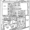 """City sprawl has covered the site of the Exposition, with the exception of the lower left quadrant, today occupied by FDR Park and golf course. The vertical center """"aisle"""" of the fairgrounds is the modern South Broad St. The horizontal """"aisle"""" is now Patterson Av."""