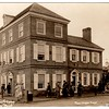 """Photo postcard from the 1926 Philadelphia Sesquicentennial Exposition. The right-hand section of this reproduction house depicted Peggy Shippen's (father's) house. See this excellent website about the Exposition, which shows a colorized version of this postcard, with slightly different captioning:   <a href=""""http://www.hamiltonphilatelic.org/presentations/sesquicentennial.pdf"""">http://www.hamiltonphilatelic.org/presentations/sesquicentennial.pdf</a><br /> Scroll down to page 80 which addresses this postcard. It states: """"High Street"""", a reproduction of old Market Street in Philadelphia 1776 included replicas of 20 historic buildings. Sponsored by the Women's Committee of the Exposition, the women made this exhibit area a huge success. They arranged programs, published booklets, acquired antique furnishings for exhibits and established information booths.""""  The location of the house within the Exposition grounds is indicated on page 79."""