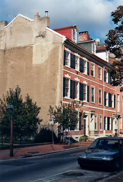 Street view of the approximate area where the Shippen home once stood