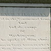 Close up of the inscription