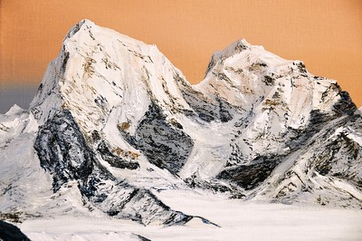 2019 -2- The Himalayas, rising over clouds (detail)