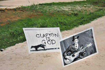 Clapton is god (detail)