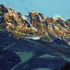 2011 - Dents du Midi (Crags of the South), Moon Crags (detail)